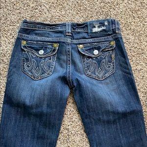 MEK jeans wide leg size 27 runs small